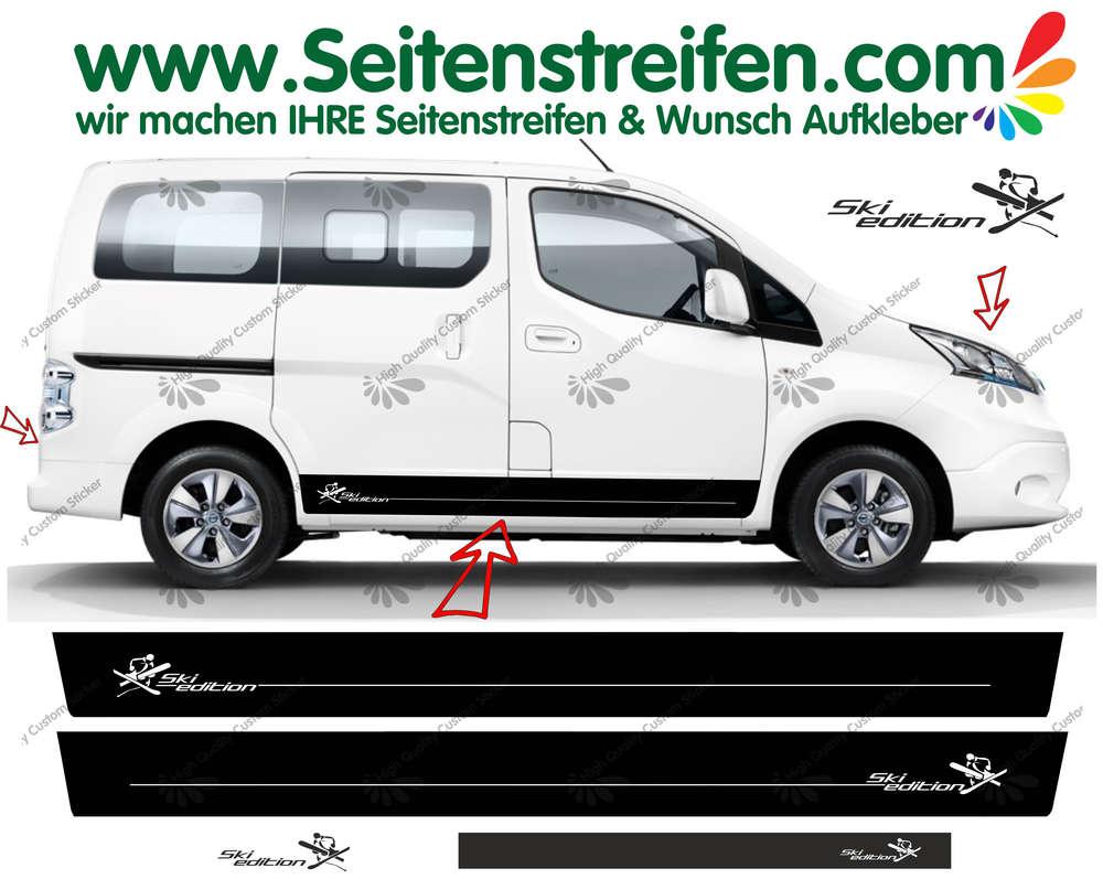 Nissan Evalia Nv200 Ski Edition Side Stripes Sticker Decal Complete Set