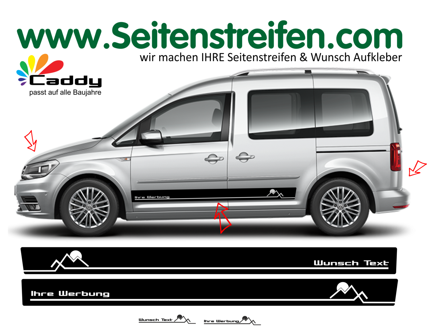 VW Caddy Set N° 1072