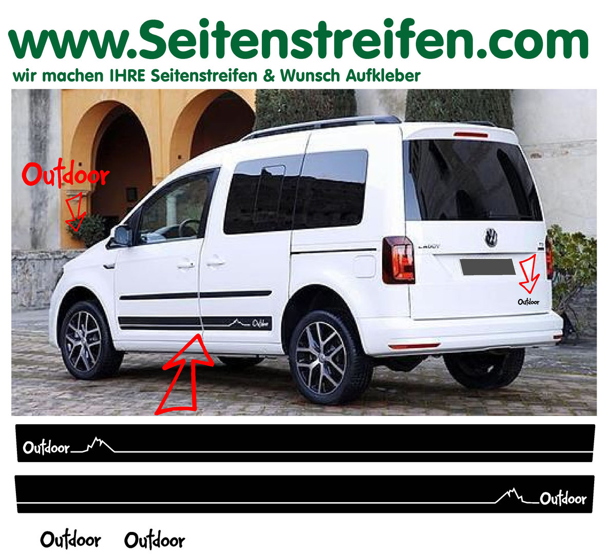 VW Caddy & Caddy Maxi - Outdoor Dekor  Set N° 1009