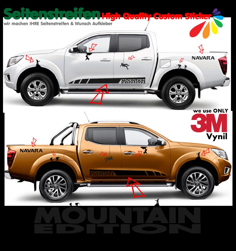 Nissan navara mountain edition side stripes sticker decal complete set n 1540