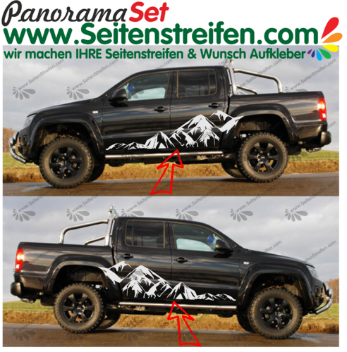 VW AMAROK pegatinas laterales - set completo nr.: 7005
