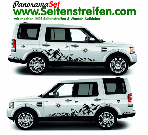 Land Rover Discovery Sticker set completo de pegatinas laterales
