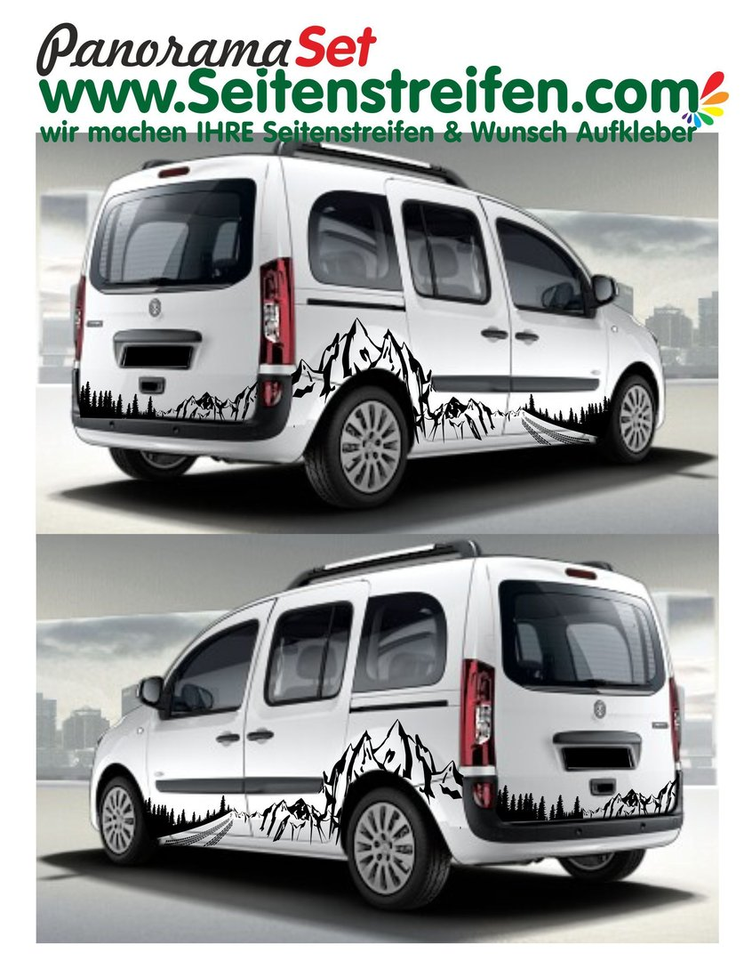 Mercedes Benz Citan Berg Mountain Wald Outdoor Wald & Wheels Panorama Set Aufkleber Dekor Set N° 850