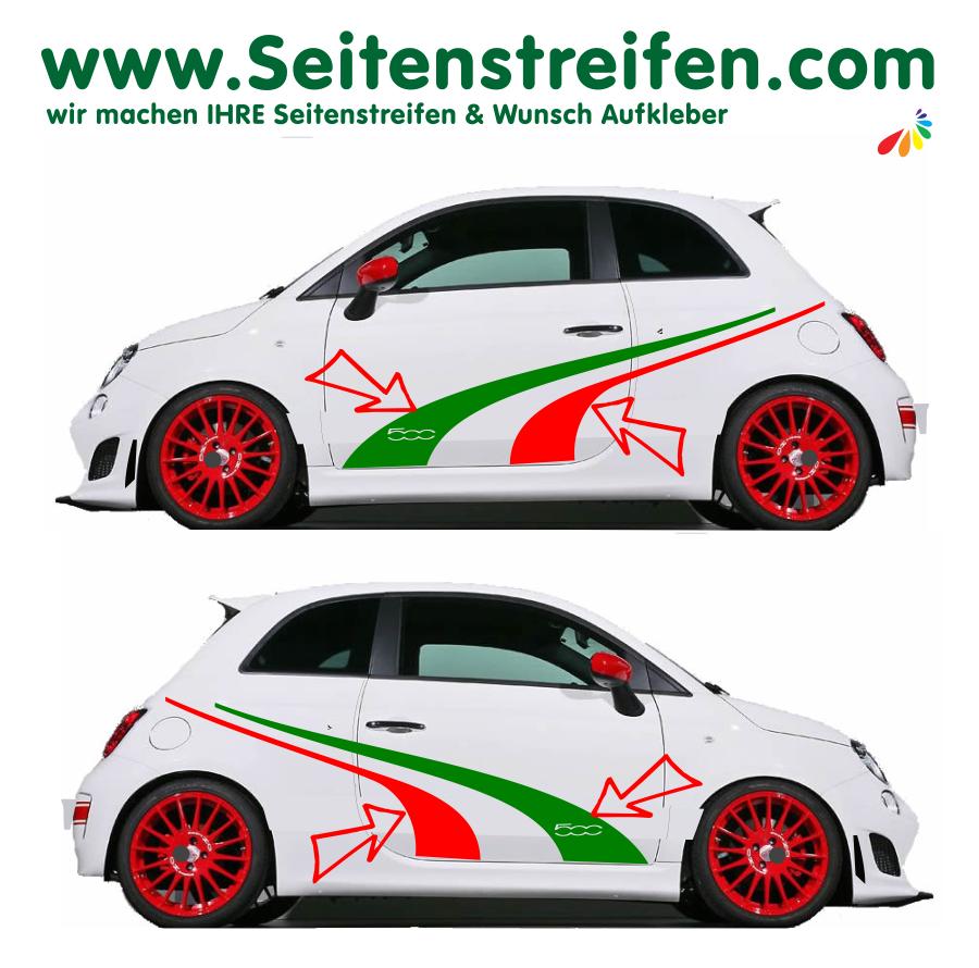 Fiat 500 Italia New 2018 Car Sticker Decal Set Nº U1908