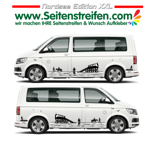 VW T4 T5 T6 Mountain Edition set completo de pegatinas laterales- Nº: U1920