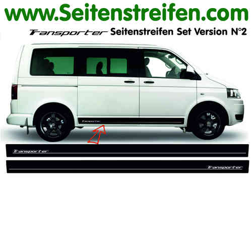 VW Bus T4 T5 Transporter Edition Sticker bande latérale autocollant ensemble complet  N° 5114
