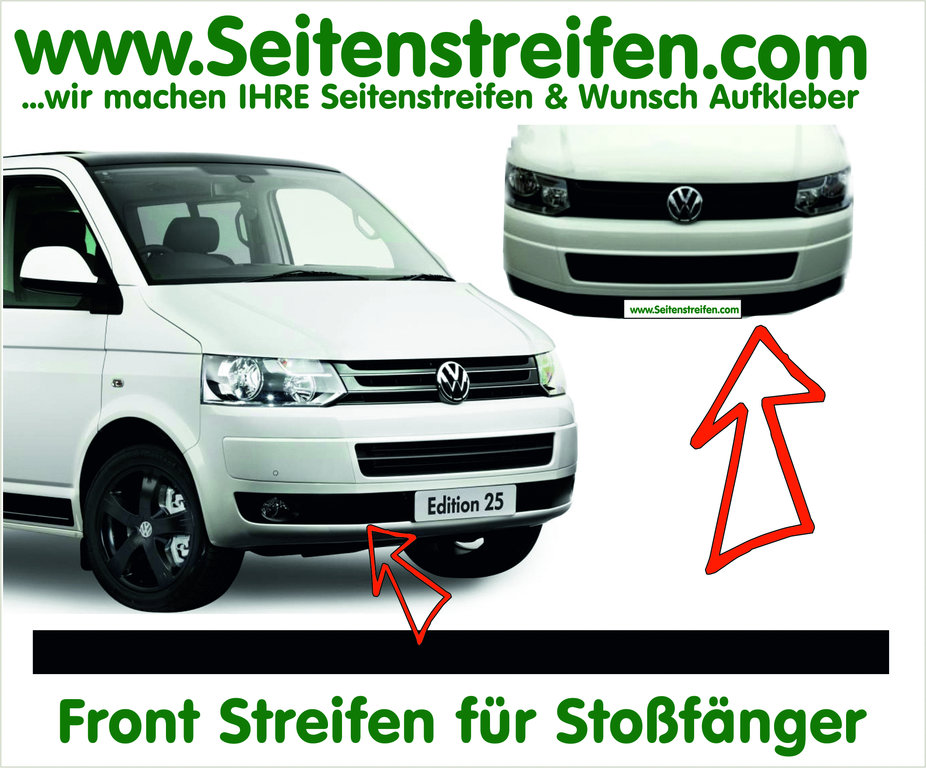 VW Bus T5 - Front Stripe Sticker for Bumper in Edition Look - N° 5040