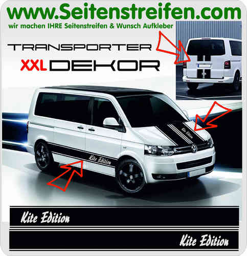 VW Bus T4 T5 T6 Kite Edition Aufkleber Dekor Sticker Komplett Aufleber Set Nr.: 5023