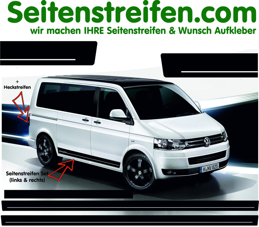 VW Bus T4  T5 Edition pegatinas adhesivo Set - N° 5056