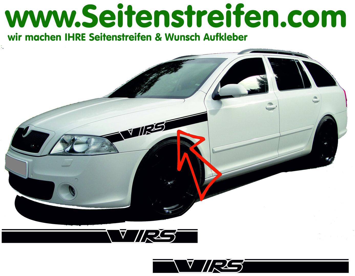 Skoda Octavia For Combi And Limo All Models Till Today Vrs Rs Hood Sticker Kit N 4633