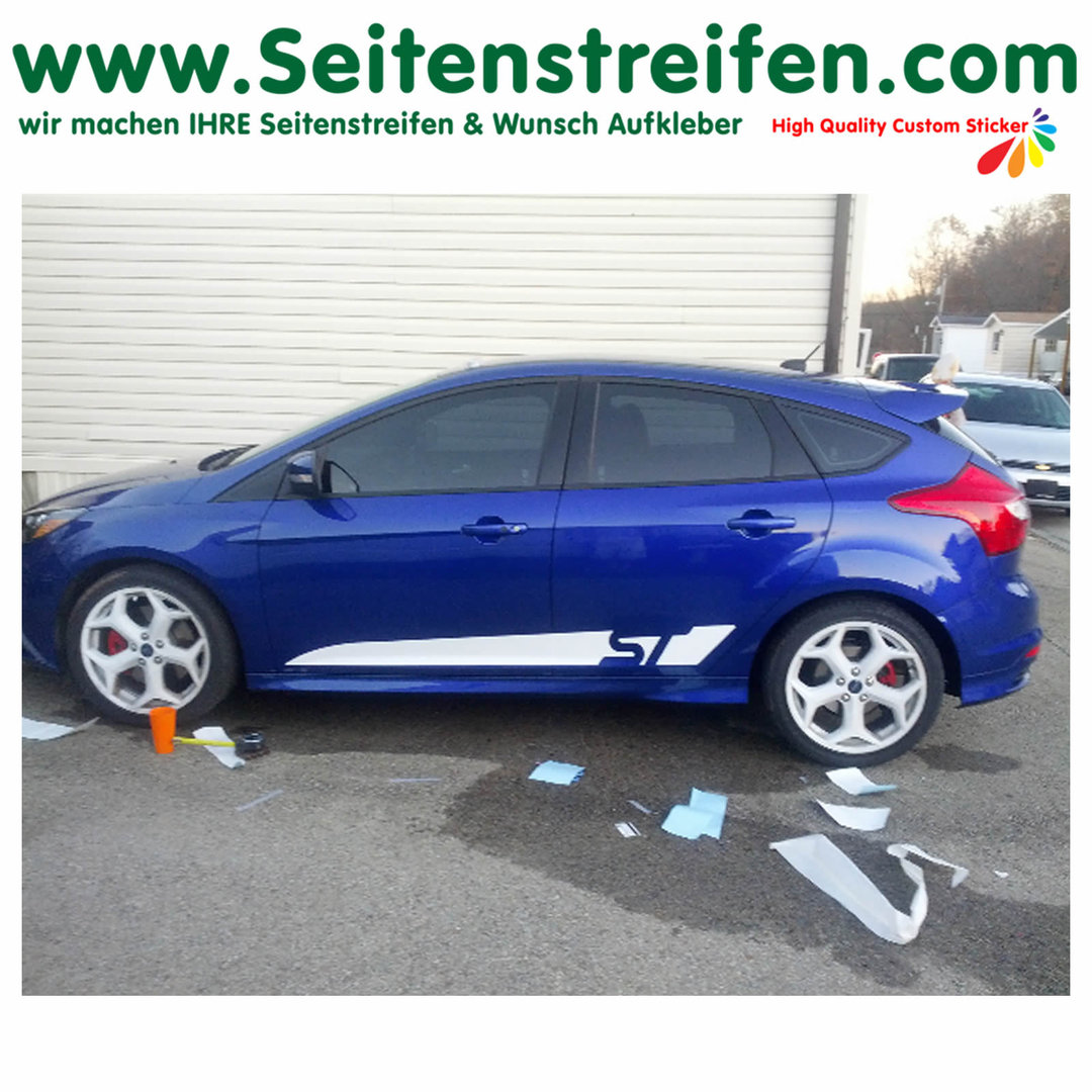 Ford Focus ST Custom - sticker autocollant ensemble complet - N° 1056