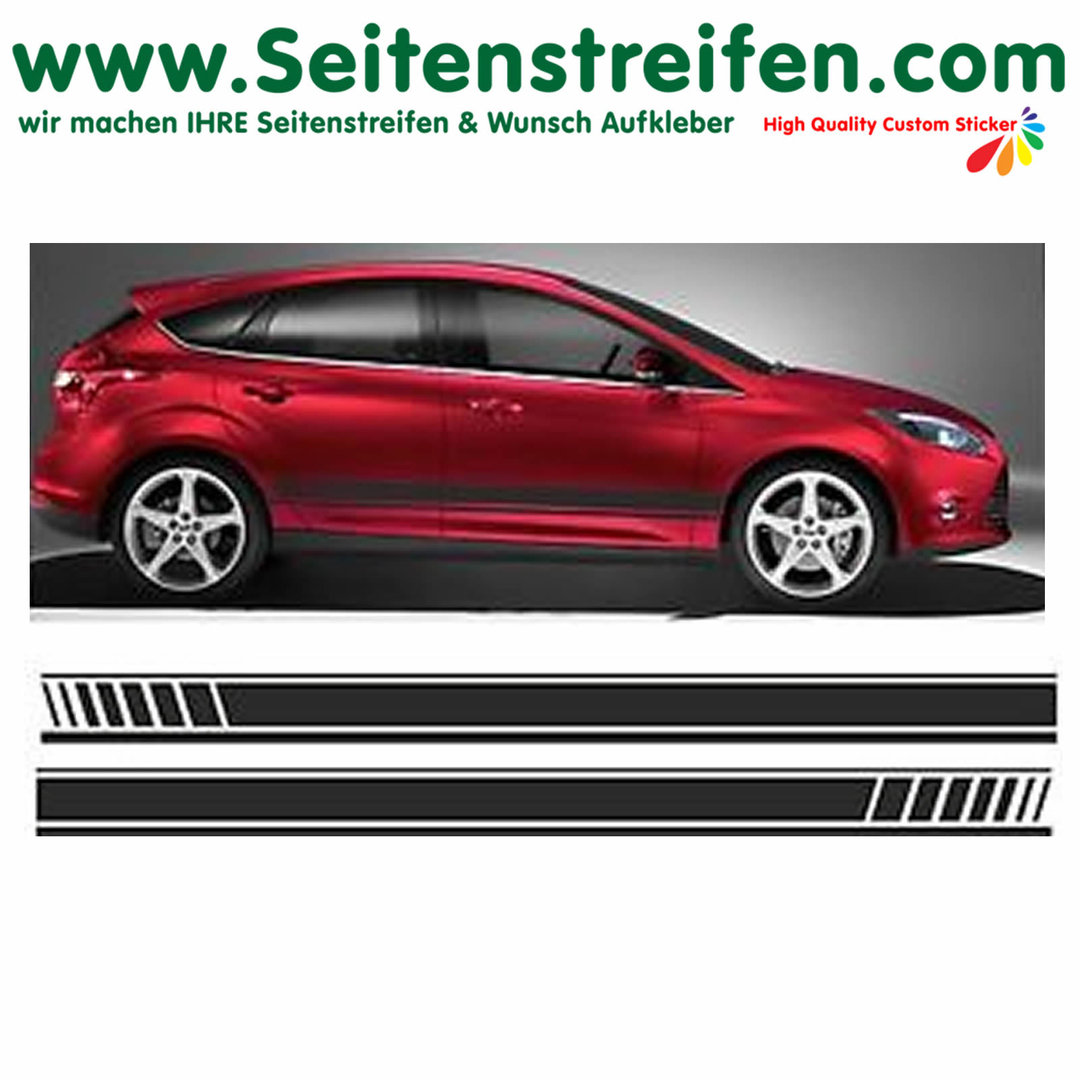 Ford Focus EVO - sticker autocollant ensemble complet - N° 1057