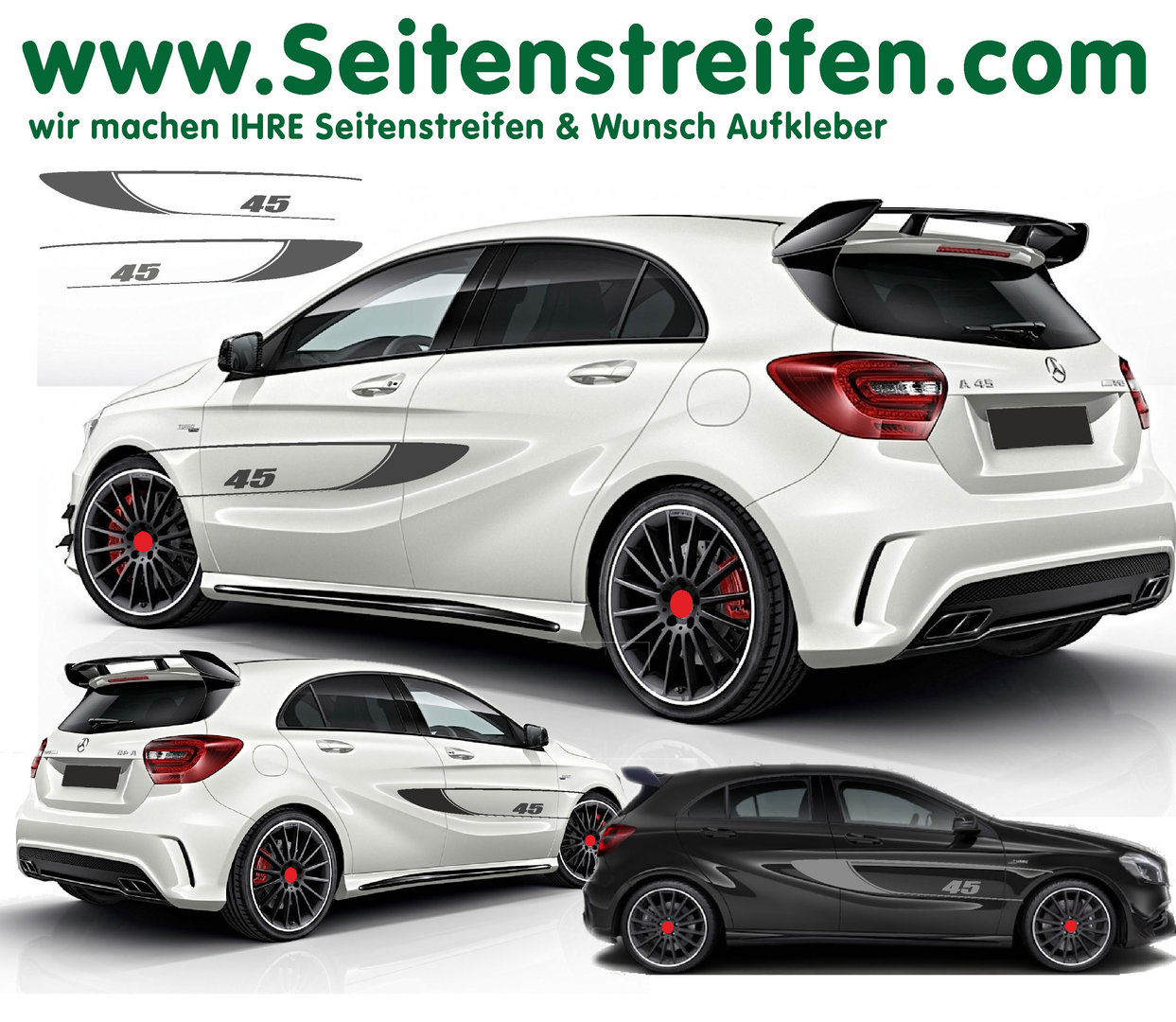 Mercedes Benz AMG 45 Edition 1 Clase A  set de pegatinas laterales - 6103