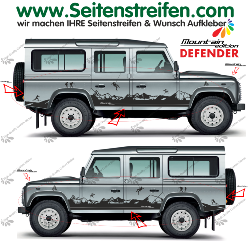 Land Rover Defender Matterhorn Panorama autocollant sticker Outdoor Sport - Nº.: 8001