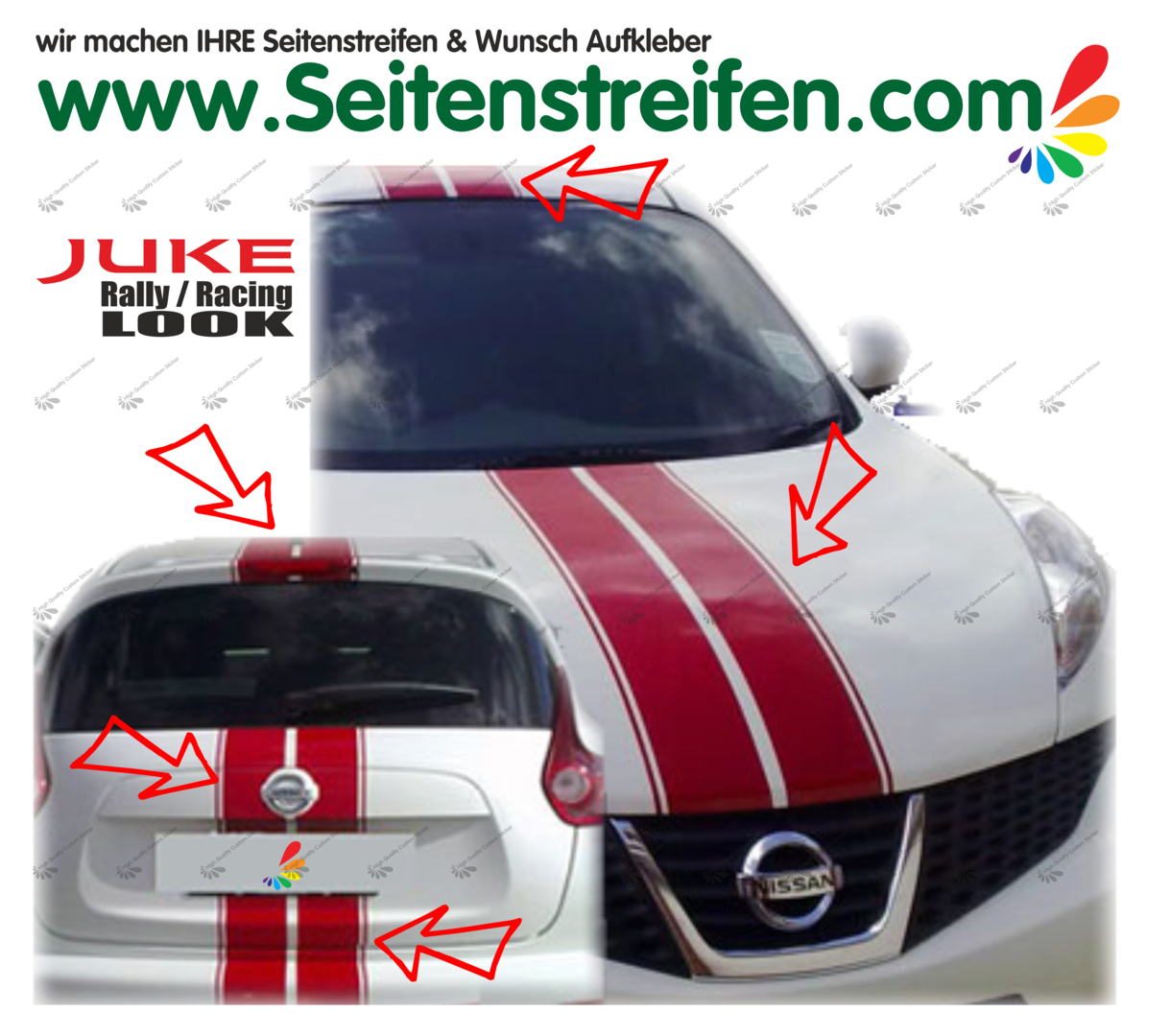 Nissan Juke Nismo - Viper Rally - Graphics Decals Sticker Kit - N° 1536