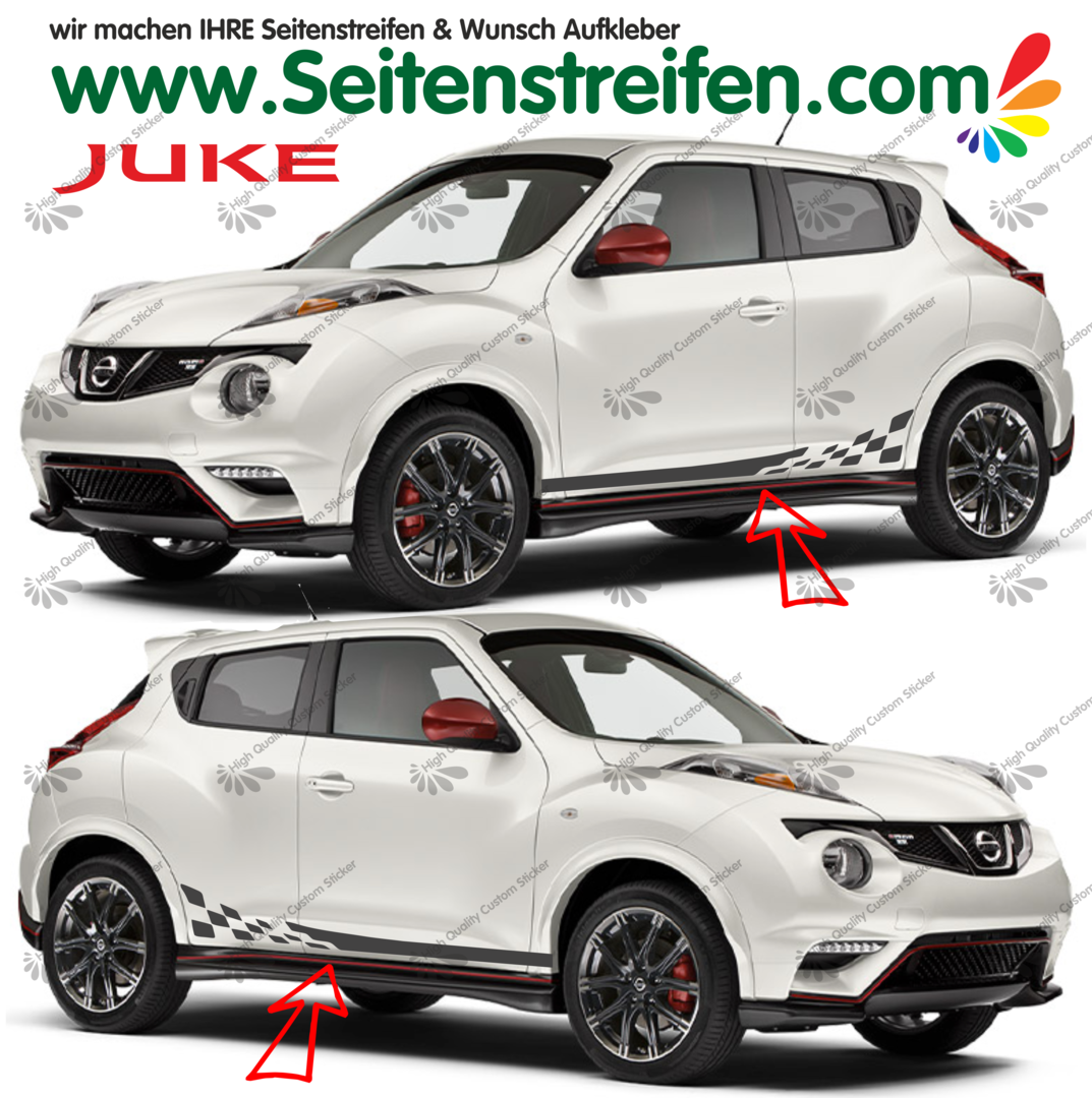 Nissan Juke Nismo R Checker Look  Pegatinas Laterales / Adhesivo / Sticker - set completo N° 1537