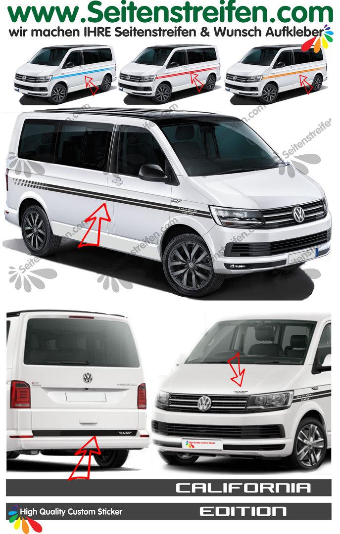 Bandes latérales et arrière de décoration sticker adhésif VW T6 TRANSPORTER 30
