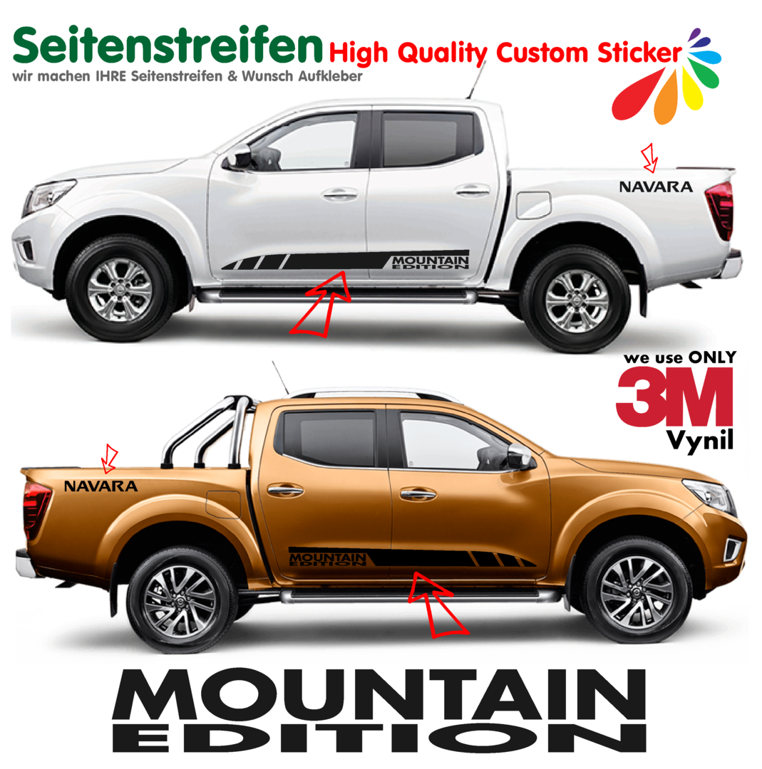 Nissan Navara Mountain Edition Pegatinas Laterales / Adhesivo / Sticker - set completo N° 1541