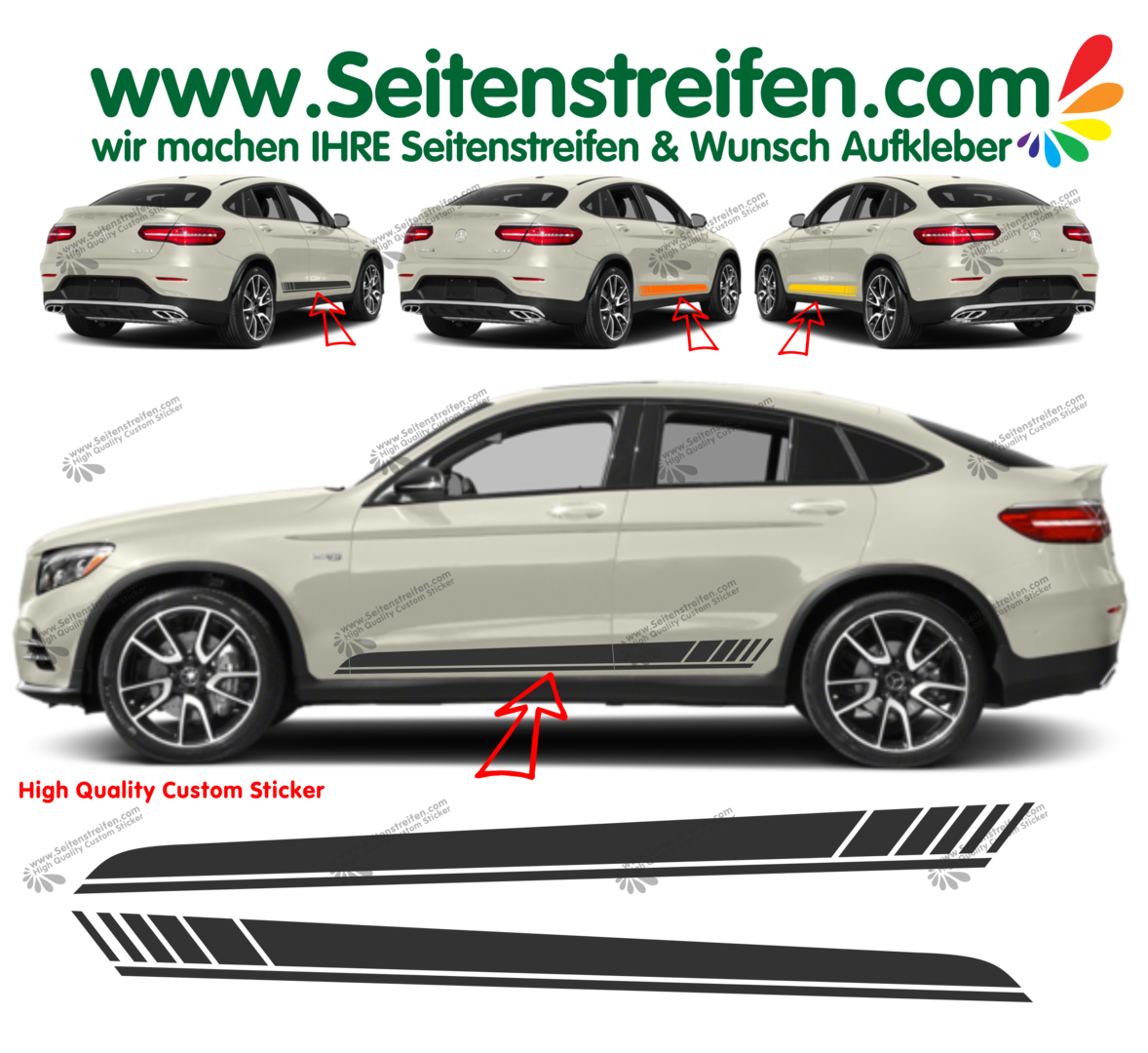 Mercedes Benz GLC Coupe C253  Edition 1 Pegatinas Laterales Set completo N°  6900