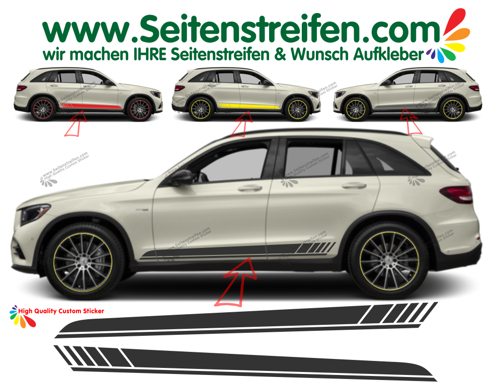 Mercedes Benz GLC X253 Edition 1 Pegatinas Laterales Set completo N°  6901