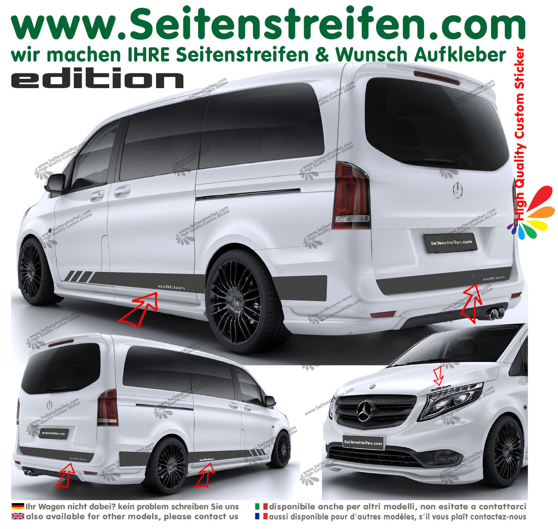 Mercedes Benz Class V Vito - model series 447/693/638 Edition Look - Decals Sticker Kit - N° 6788