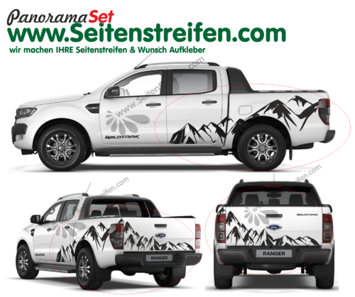 Ford Ranger Mountain Edition Outdoor autocollant ensemble complet XXL Set - N° 3924