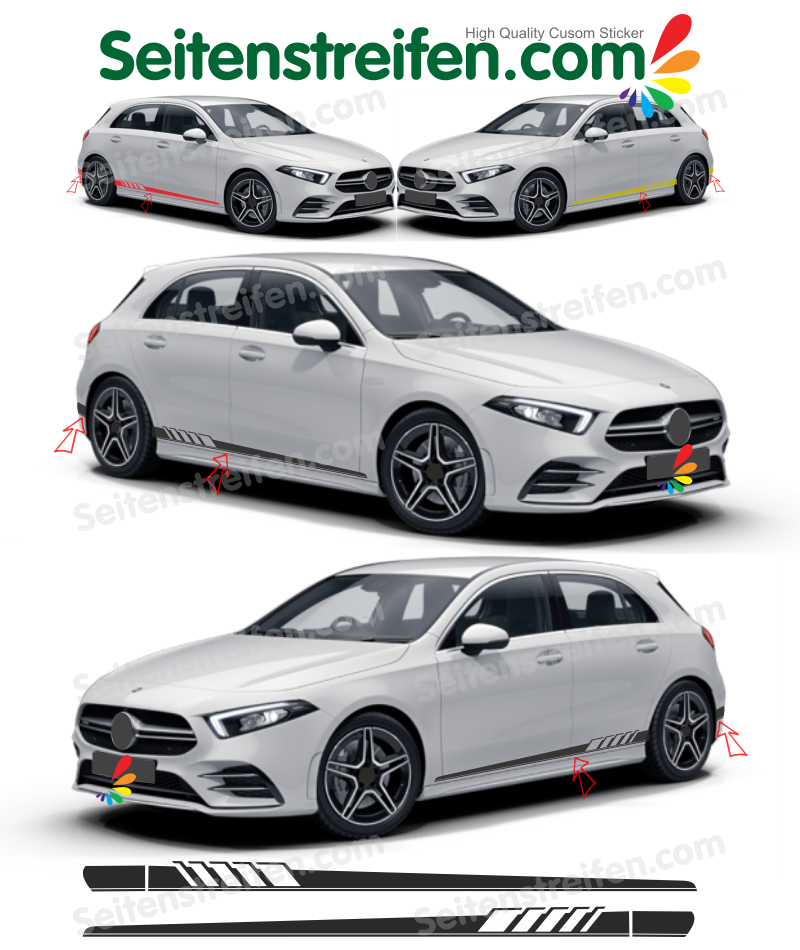 Mercedes Benz W176 clase A AMG Edition 1 replica set de pegatinas laterales
