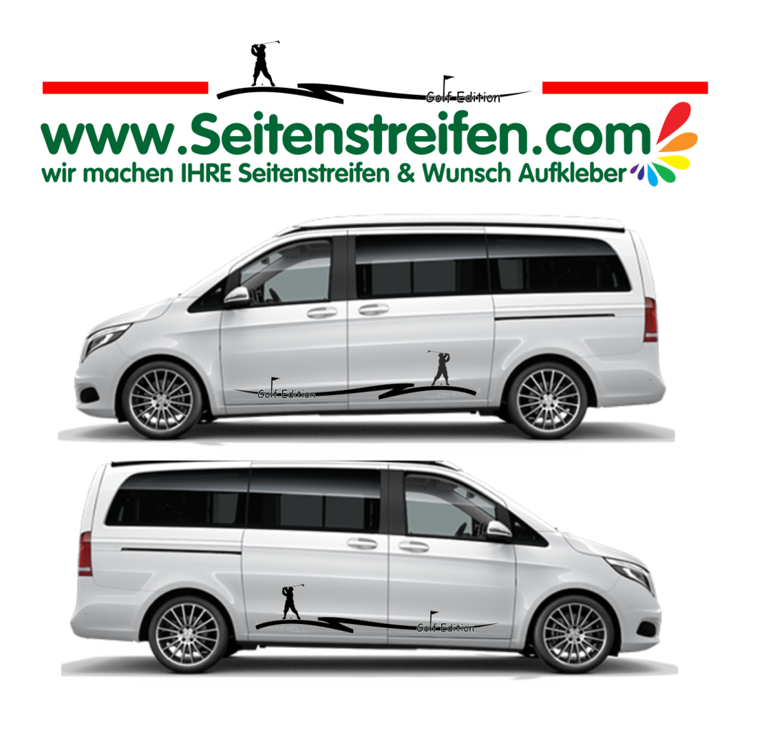 Mercedes Benz V klasse Sport Golf Edition Panorama Outdoor Aufkleber Dekor Set - U1925