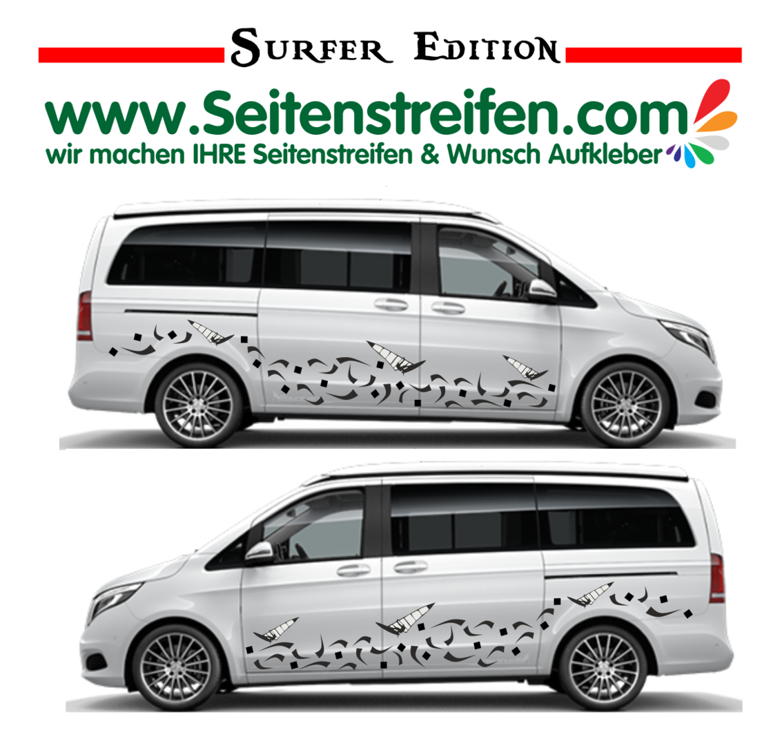 Mercedes Benz Class V - 447/693/638 Surfer Edition Panorama Outdoor - Decals Sticker Kit - Nº U1926