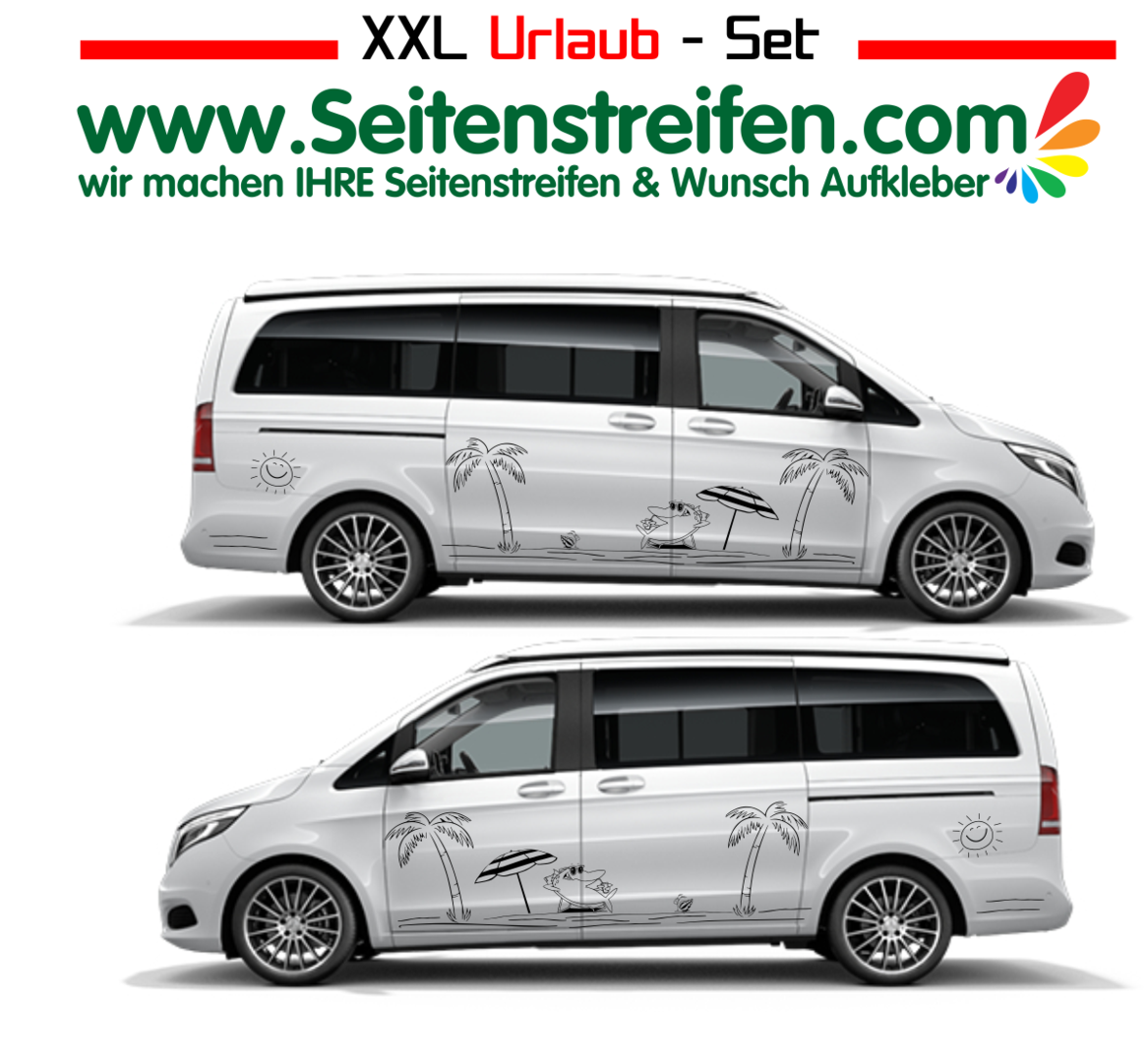 Mercedes Benz Class V Vito - 447/639/638 XXL Vacation Set Panorama Outdoor - Sticker Kit - Nº U1931