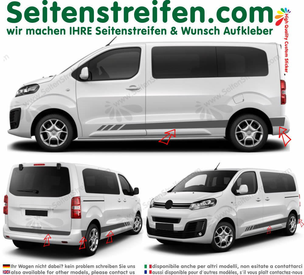 Citroën Spacetourer / Citroën Jumpy evo edition  autocollant sticker set - 9016