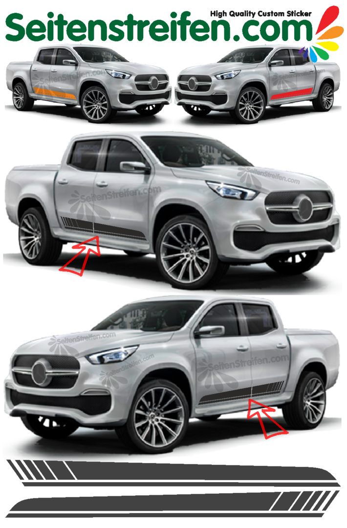 Mercedes Benz Clase X Pegatinas Laterales Sticker Set