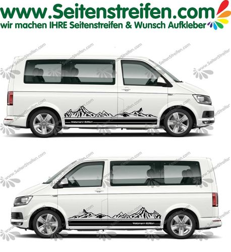VW Bus T4 T5 T6 Watzmann Edition Berg Mountain Outdoor Aufkleber Dekor Set - U1994
