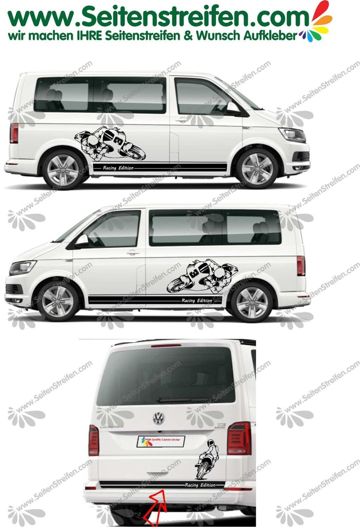 VW Bus T4 T5 T6 - Racing Edition Moto GP Racing Superbike - Graphics Decals Sticker Kit - N° U1995