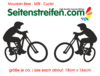 2x MTB Mountain Biker Aufkleber Dekor Sticker  Art:Nr: M115