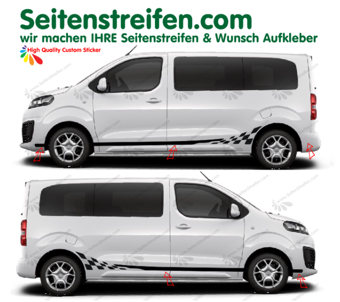 Citroën Spacetourer & Jumpy Checker autocollant sticker set  8445