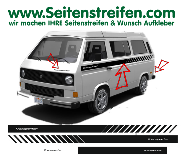 VW Vanagon T3 Transporter Pegatinas Laterales Adhesivo - set completo