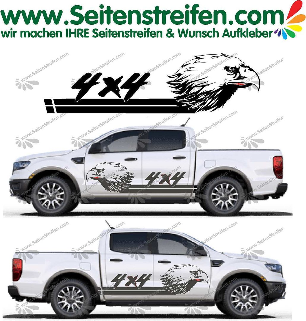 Ford Ranger Eagle Eagle 4x4 Offroad Graphics Decals Sticker Kit N U5015
