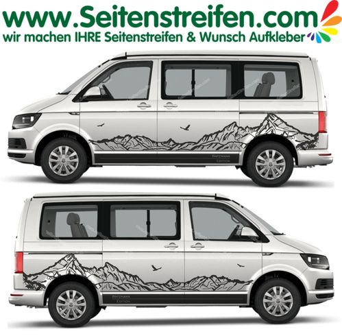 VW T4 T5 T6 Watzmann Alpes montagnes autocollant ensemble set N° 5332