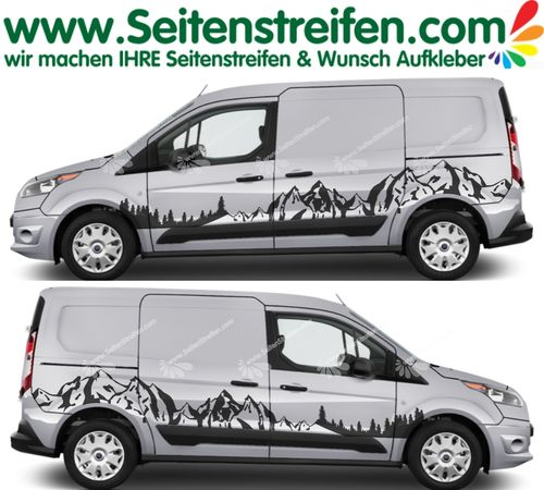 Ford Tourneo Connent montagnes forêt outdoor autocollant sticker kit - U3004